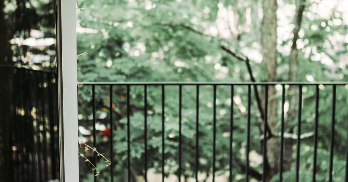 A close up of a fence